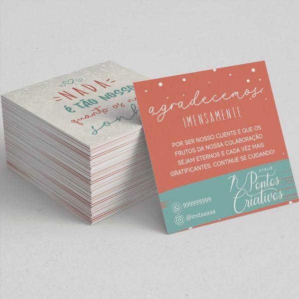 cartão postal 10x10cm